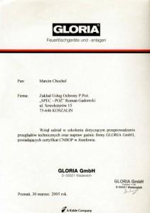 Certyfikat GLORIA