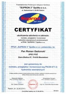 Certyfikat Supron